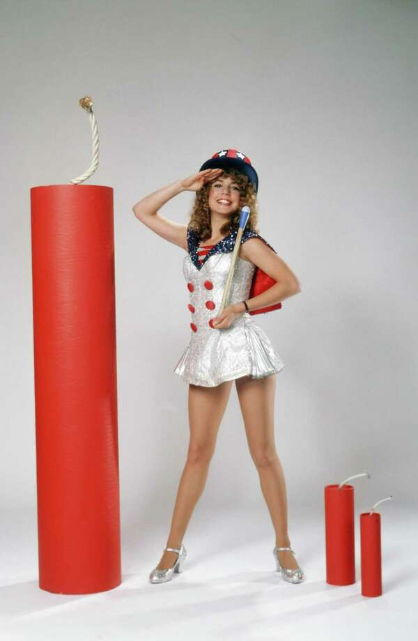 1981 -- Diff'rent Strokes star Dana Plato, being patriotic. Photo: NBC, Getty Images / ? NBC Universal, Inc.
