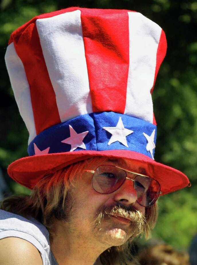 "2004 -- It's like ""Easy Rider"" as a hat. Photo: Tim Boyle, Getty Images / Getty Images North America"
