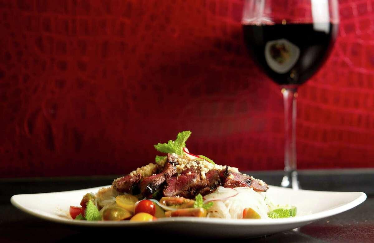Thai beef salad at Monarch Restaurant in Hotel ZaZaFriday, June 28, 2013, in Houston. ( Johnny Hanson / Houston Chronicle )