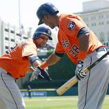 May 15: Astros 7, Tigers 5 Carlos Corporan, left, hit a solo homer in the fourth inning and drove in the go-ahead run with a double in the ninth. Record: 11-30.