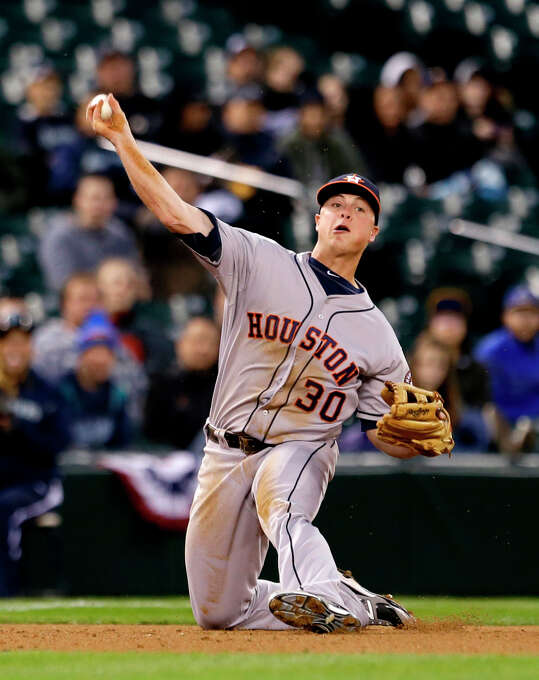 April 10: Astros 8, Mariners 3 Houston put together its first back-to-back wins of the season in Seattle. Record: 3-6. Photo: Elaine Thompson
