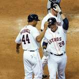 March 31: Astros 8, Rangers 2 Rick Ankiel (28) and Justin Maxwell (44) powered the Astros to a smashing AL debut. Record: 1-0.