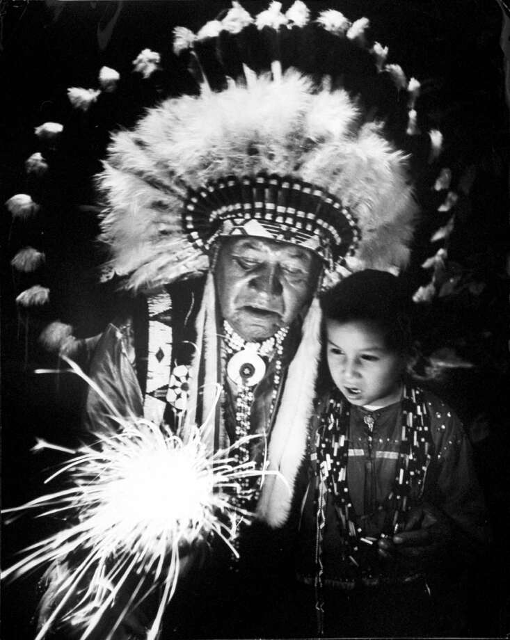 1953 -- Native Americans on the Fourth of July. Photo: Francis Miller, Getty Images / Time Life Pictures