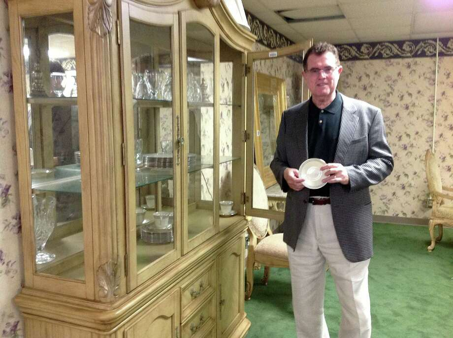 At North Forest High School, HISD Superintendent Terry Grier said he was shocked to find a china cabinet. The room is said to have been a meeting room for parents. Photo: Erica Mellon, Houston Chronicle / Houston Chronicle