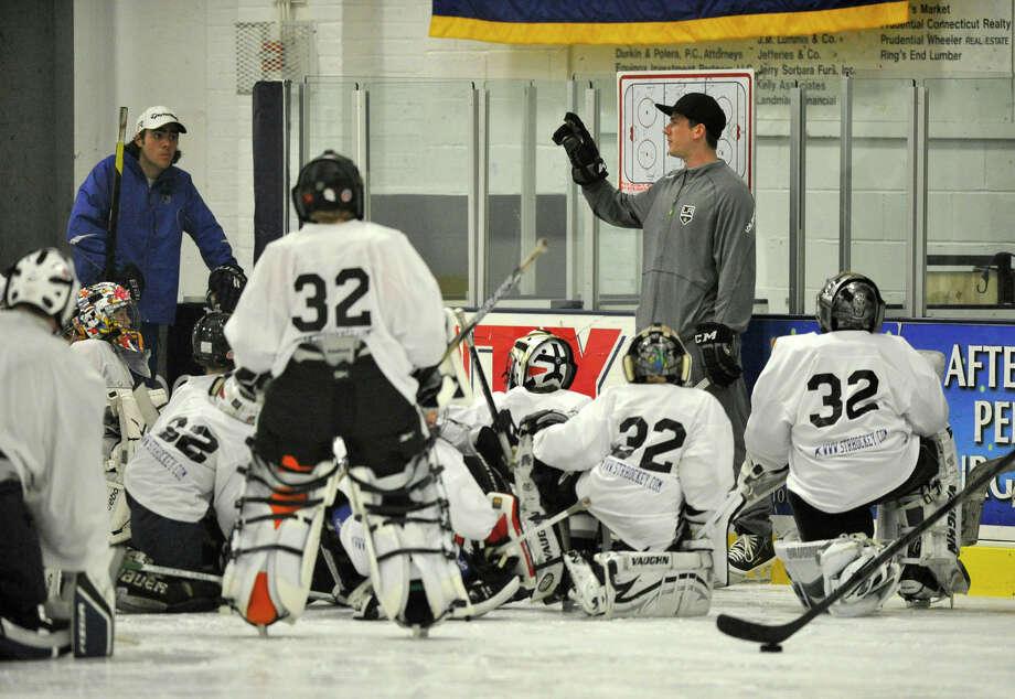 Scenes from the NHL's Jonathan Quick Goalie Camp at Stamford Twin Rinks on Tuesday, July 2, 2013. Photo: Jason Rearick / Stamford Advocate