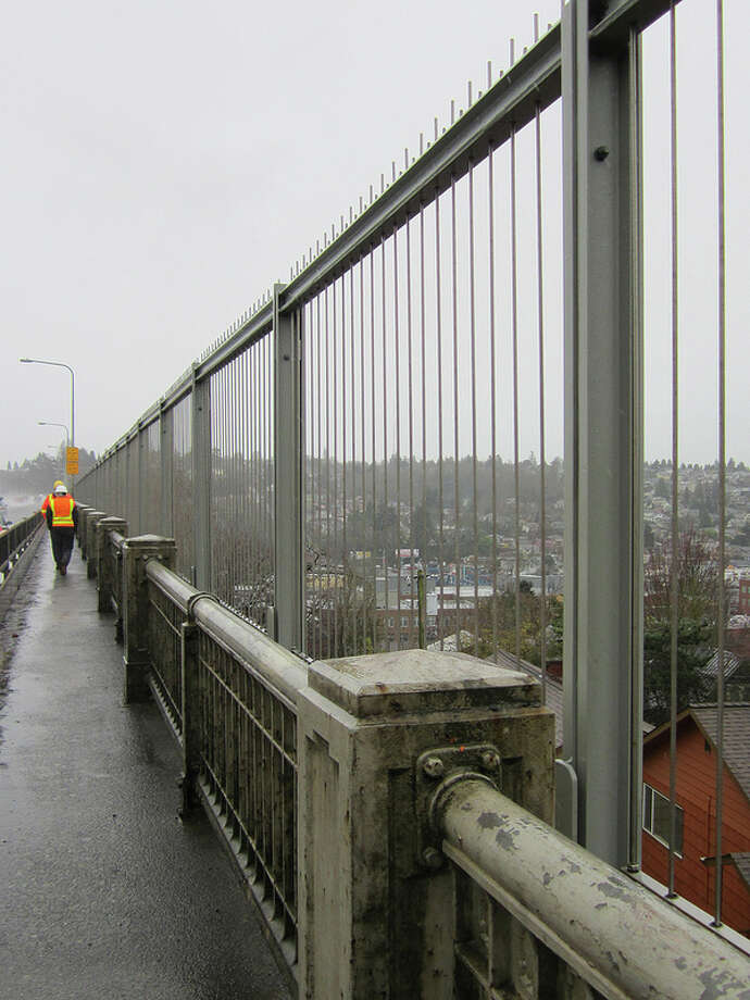According to the Washington State Department of Transportation, a suicide-prevention fence had to be put up on the Aurora Bridge because it was the second-most-popular bridge for suicides in the nation, behind the Golden Gate Bridge in San Francisco.