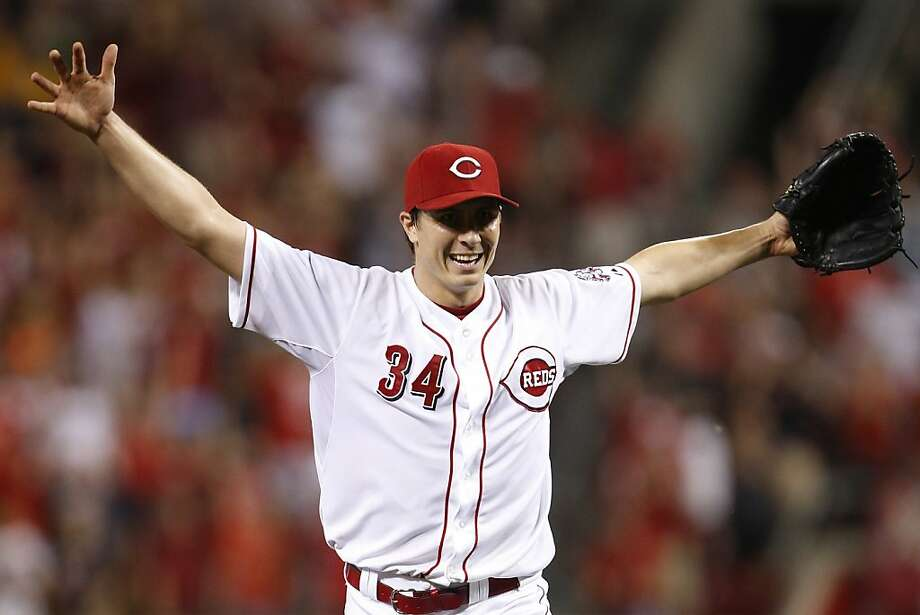 CINCINNATI, OH - JULY 2: Homer Bailey #34 of the Cincinnati Reds celebrates after throwing a no-hitter against the San Francisco Giants at Great American Ball Park on July 2, 2013 in Cincinnati, Ohio. The Reds won 3-0. (Photo by Joe Robbins/Getty Images) Photo: Joe Robbins, Getty Images