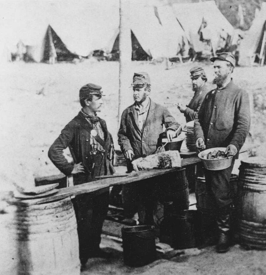 Cooks preparing the mess in camp during the US civil war, circa 1862. Photo: Archive Photos, Getty Images / 2010 Getty Images