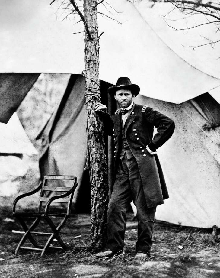 General Ulysses S Grant, commander of the Union Army during the American Civil War, at Cold Harbor Virginia, circa 1864.  This image is from the files of the United States National Archives. Photo: Popperfoto, Getty Images
