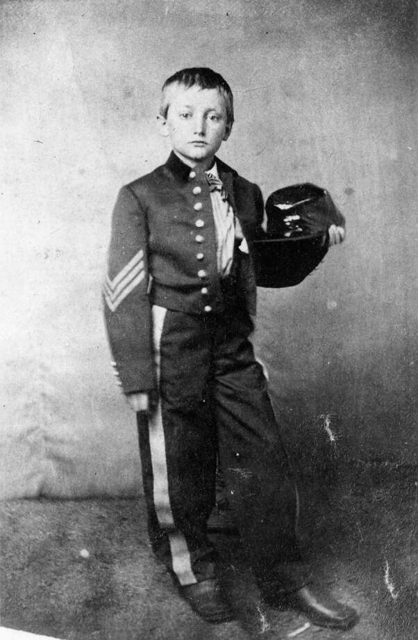 1863:  Johnny Clem (1851 - 1937) , a drummer boy in the Union Army who became a hero after the Battle of Shiloh. Photo: MPI, Getty Images / Archive Photos