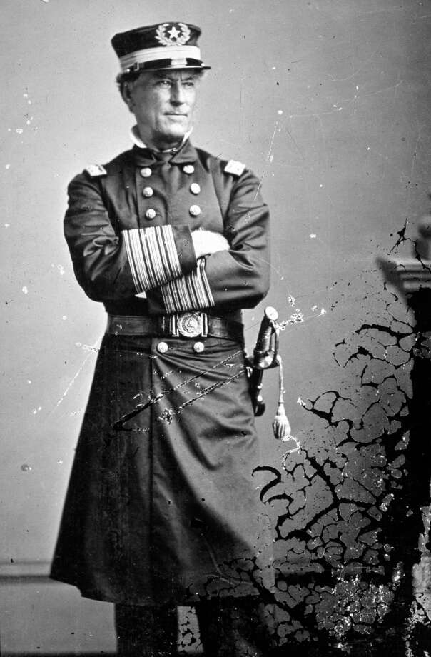 1863:  Federal Admiral David Farragut (1801 - 1870), a Tennessean who successfully captured New Orleans, Baton Rouge and Natchez for the Union. Original Artwork: Photograph by Mathew B. Brady (1823-1896) Photo: Mathew Brady, Getty Images / Archive Photos