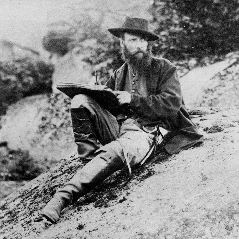 July 1863: Alfred R Waud, special artist for Harper's Weekly magazine, sketching the Gettysburg battlefield, Pennsylvania. (Photo by Timothy H. O'Sullivan/Hulton Archive/Getty Images) Photo: Timothy H. O'Sullivan, Getty Images / Archive Photos
