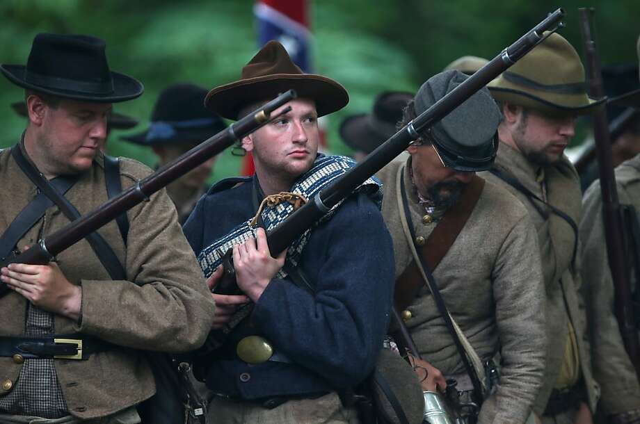 No. 8: A richer, older history. Civil War battlegrounds, Valley Forge, Independence Hall, Paul Revere's ride, Williamsburg, Plymouth. George Washington actually did sleep here. (Shown: Confederate reenactors, Gettysburg, Pa.) Photo: John Moore, Getty Images