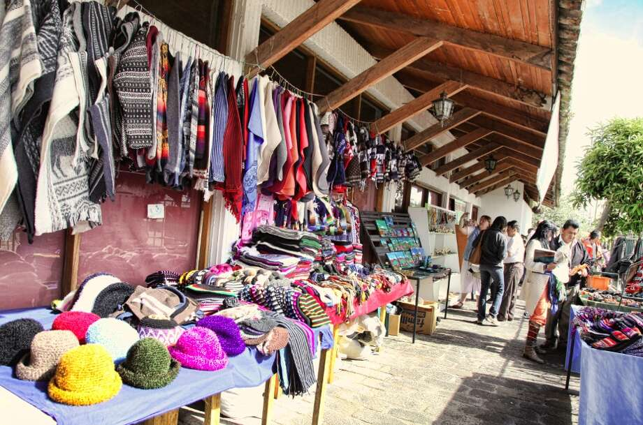 Traditional markets in Ecuadorian villages  offer plenty of souvenir options.