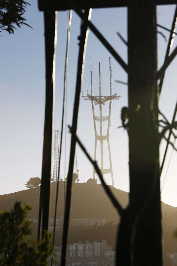 Sutro Tower is seen from Castro Hill at sunset on June 21, 2013 in San Francisco, Calif.