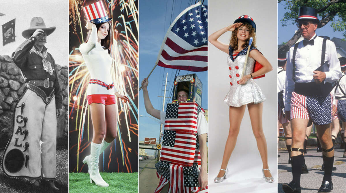 Each year, a handful of patriots mark America's Independence Day by liberating themselves from aesthetic decency. Take a look at some of the worst - and a few of the best - Fourth of July looks over the years, including President Calvin Coolidge as a rhinestone cowboy.
