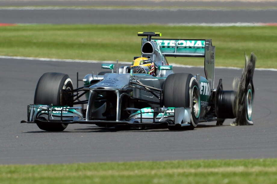 Formula One cars with nuclear power About 80 percent of Formula One cars use an exhaust pipe coating originally developed for nuclear reactors. Oh, a Formula One car can also go 120 mph upside down. Photo: Lars Baron, Getty Images / 2013 Getty Images
