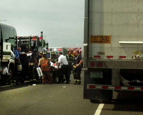 Chain reaction bus crash created traffic nightmare