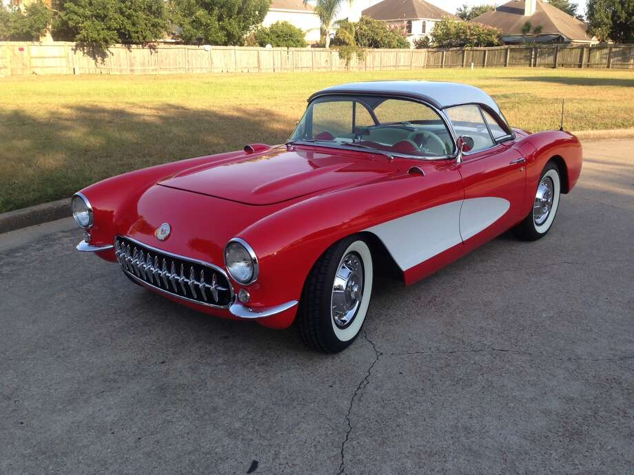 This red and white 1956 Corvette, owned by CL Turcotte of Bryan, is one of 3,467 Corvettes made in the model's fourth year of production.