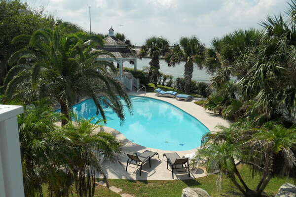 The pool is a freshwater option at the Wyatts home in Key Allegro. They rent out the house much of the year.