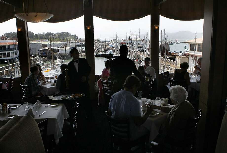 Alioto's, a family-run mainstay that began as a fish stand in 1925, offers a conventional menu and an excellent view of the harbor. Photo: Liz Hafalia, The Chronicle