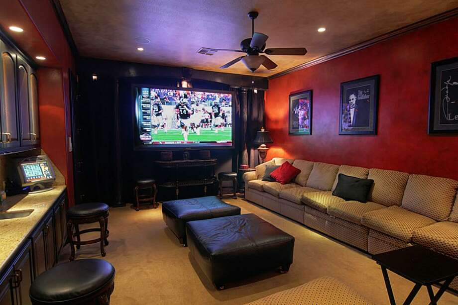The home has a state-of-the-art media room.