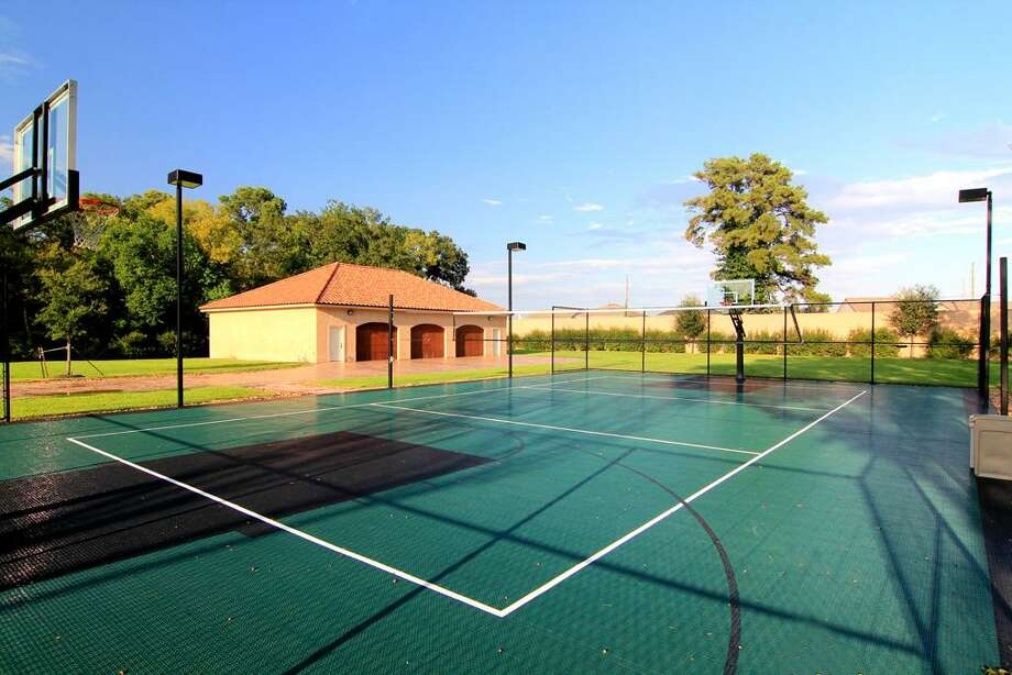 A multipurpose tennis, basketball, and volleyball courtprovides ample entertainment.