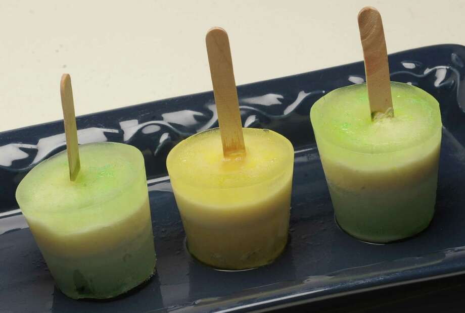 These freeze pops combine the tart flavors of lemon and lime with the creamy sweetness of vanilla yogurt. (Lori Van Buren / Times Union ) Photo: Lori Van Buren / 00022735A