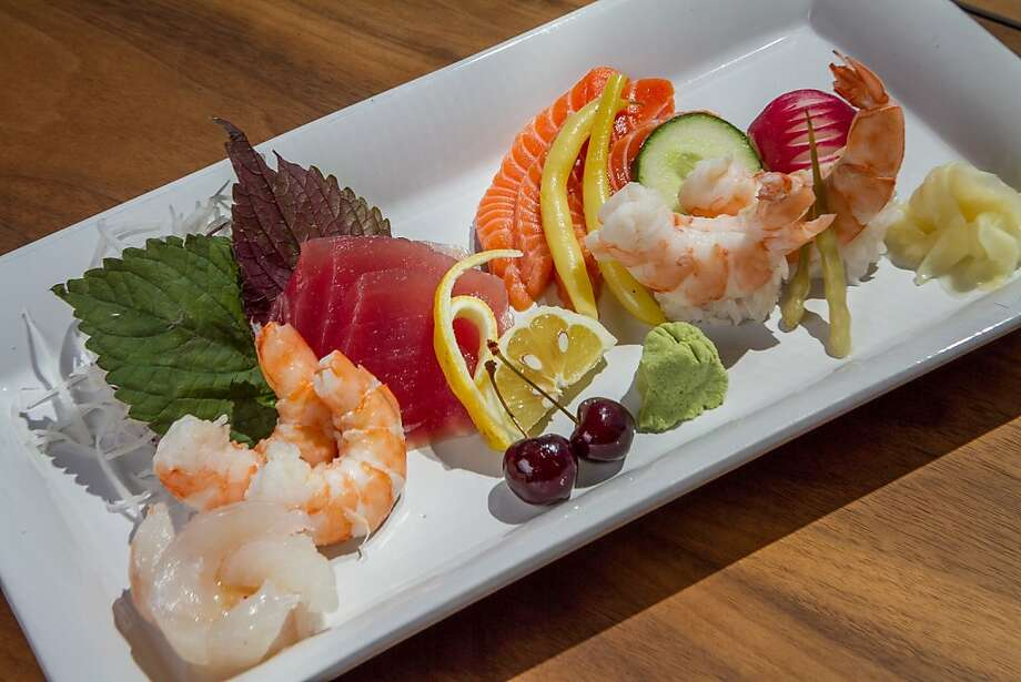 White shrimp sushi and sashimi platter at Seaglass restaurant. If Sachio Kojima is there, it's a highlight at the Exploratorium. Photo: John Storey, Special To The Chronicle