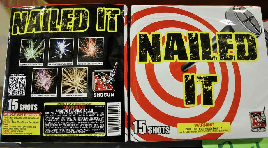 What's new for the 4th of July 2013??  How about this 200 gram, 15 shot, Cake firework. On some of the new  ones for this year, a QR code is included that when scanned with a smart phone, will show a short video of just what it does so you know what you are getting for the money. Dave Ryan/The Enterprise