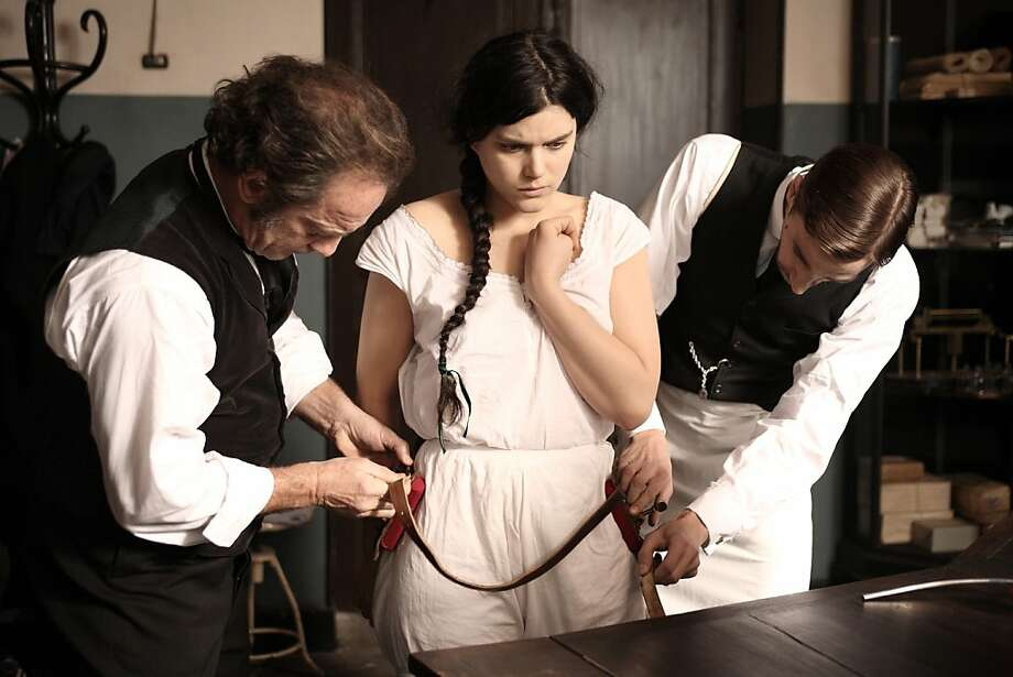 "Vincent Lindon (left) is neurologist Jean-Martin Charcot and Soko is  in the title role in ""Augustine,"" about a woman with a strange paralysis. Photo: Courtesy Of Music Box Films"