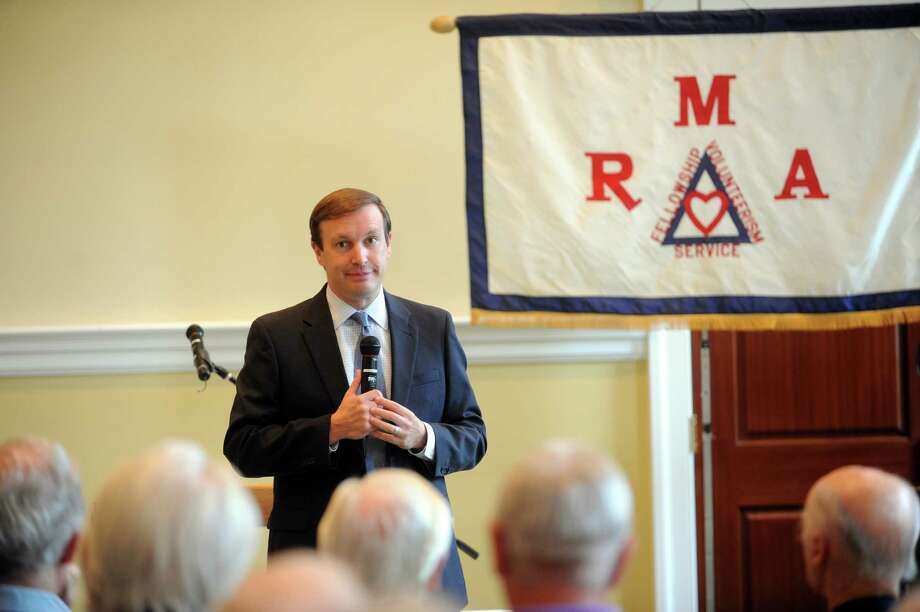 U.S. Senator Chris Murphy, D-Conn., speaking at the Greenwich Retired Men's Association meeting, at the First Presbyterian Church of Greenwich, in Greenwich, Conn., Wednesday, July 3, 2013. Photo: Helen Neafsey / Greenwich Time