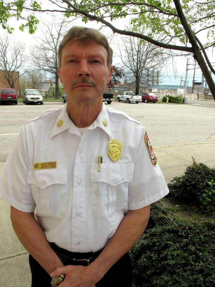Deputy Chief Bruce Porzelt retired after 36 years with the department. Photo: John Burgeson, File Photo / Connecticut Post
