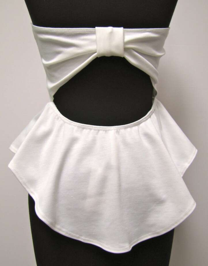 Open-back peplum top, LUXE Boutique, Beaumont, $24.99