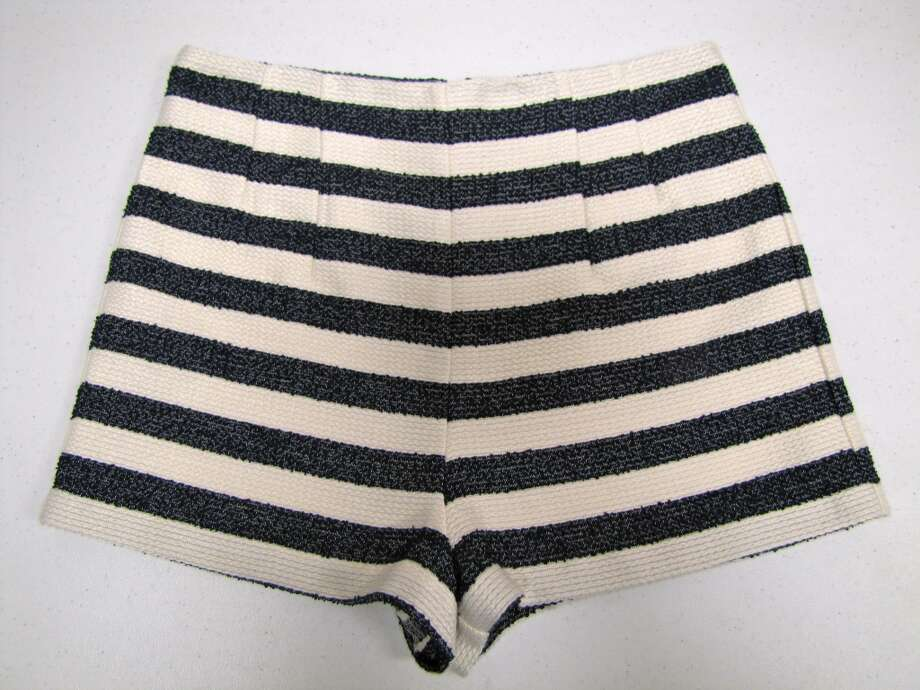 High-waist stripe shorts, BCBGeneration, LUXE Boutique, Beaumont, $78