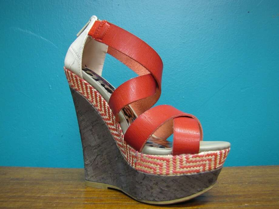 Double strap wedge, YaYa Club, Beaumont, $46.95
