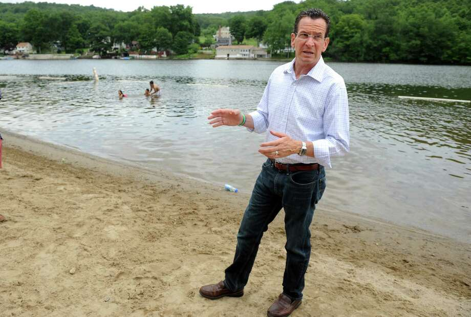 Gov. Dannel P. Malloy pays a visit to Indian Well State Park in Shelton Wednesday, July 3, 2013 to promote the extensive state park system and celebrate its centennial anniversary. Photo: Autumn Driscoll / Connecticut Post