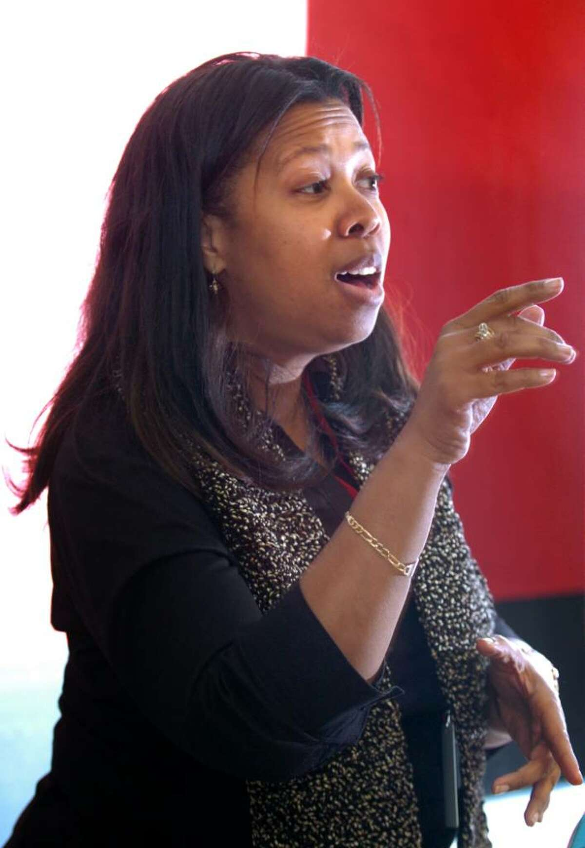 Sheena Graham conducts the Central High School Gospel Choir Tuesday January 12 after school.
