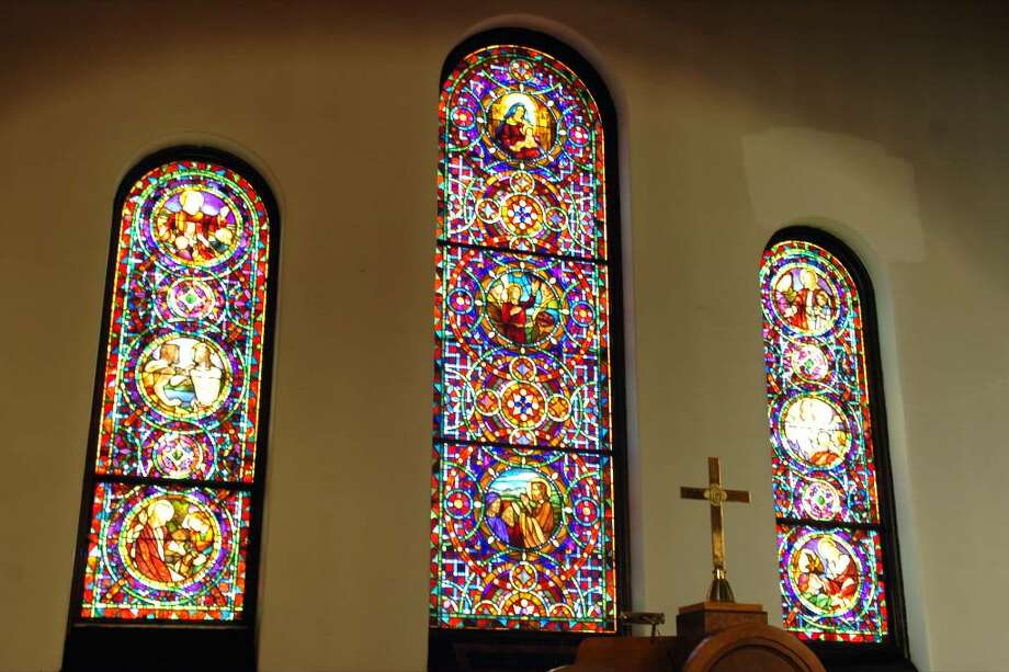 Tiffany windows at the First Church Congregational at 148 Beach Road in Fairfield, Conn. Photo: Ned Gerard / Connecticut Post