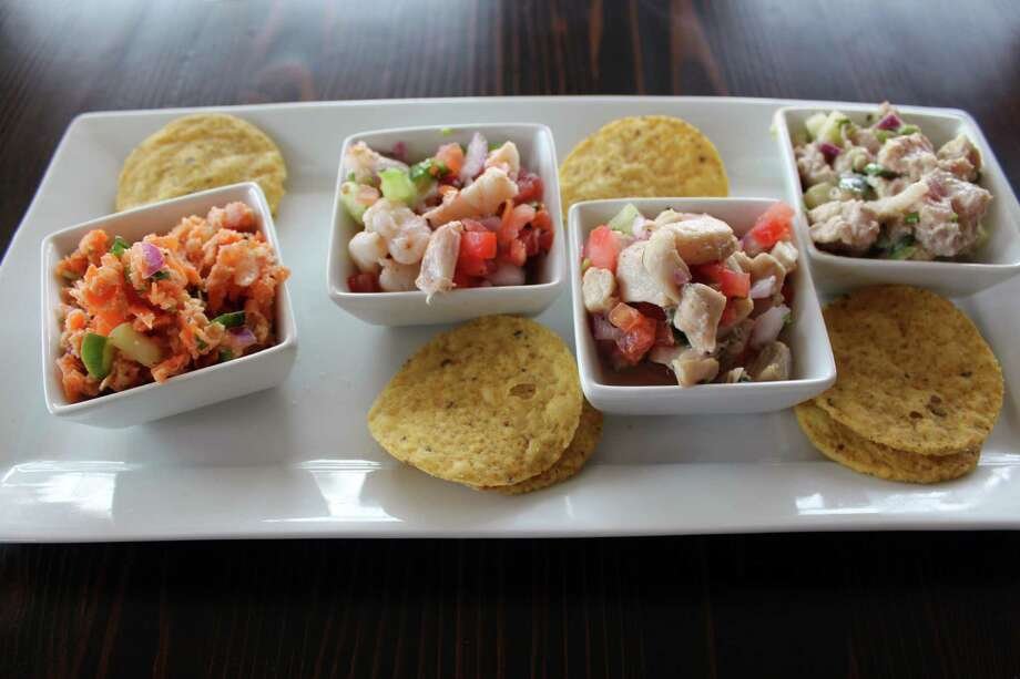 210 Ceviche pays tribute to both San Antonio and Mexico's Pacific coast with dishes such as this ceviche sampler. Photo: Jennifer McInnis / San Antonio Express-News