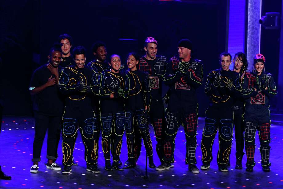 Miral Kotb of Clear Lake (Center, 6th from the right): America's Got Talent, Season 6 (2011) Photo: Trae Patton / © NBCUniversal, Inc.