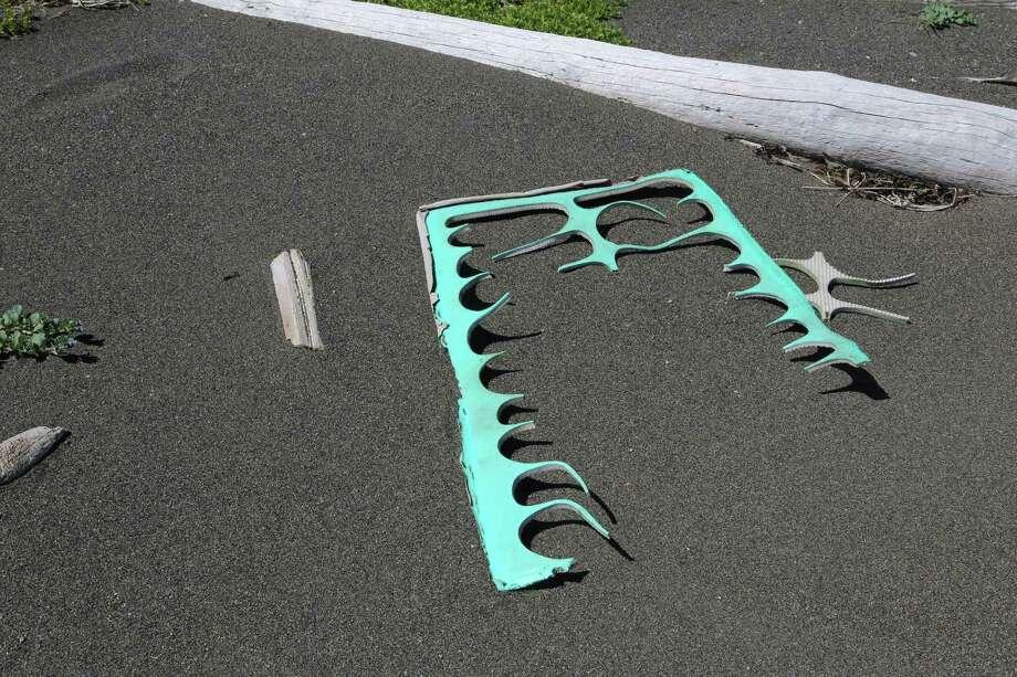 Post-production flip flop remnants. Photo: Nicholas Mallos/Ocean Conservancy