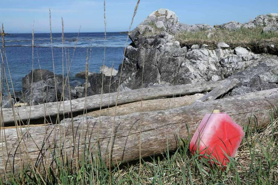One of many kerosene containers swept into sea by Japan tsunami. Photo: Nicholas Mallos/Ocean Conservancy