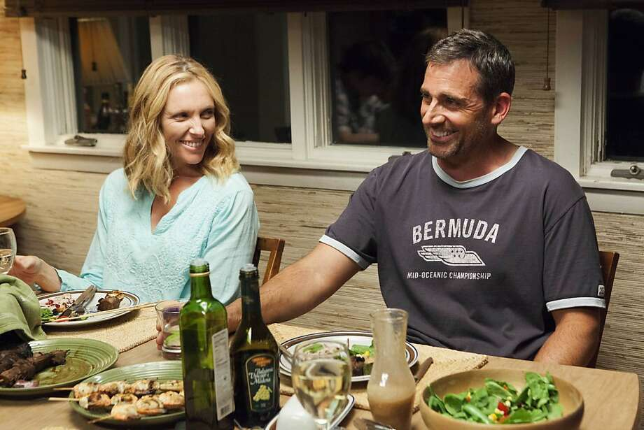 "Divorced mother Pam (Toni Collette) goes to a beach town over the summer with boyfriend Trent (Steve Carell), who seems to relish undermining her teenage son every chance he gets in ""The Way, Way Back."" Photo: Claire Folger, Associated Press"