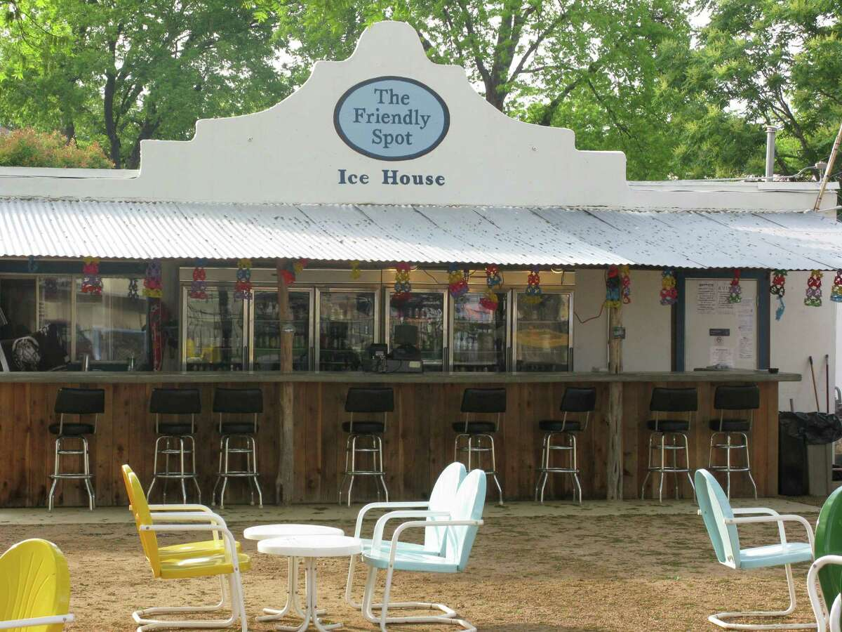There's plenty of room to chill outside at Friendly Spot Ice House, 943 S Alamo St. This is the front outdoor bar that faces the street. There's also a large enclosed play area for the kids. thefriendlyspot.com