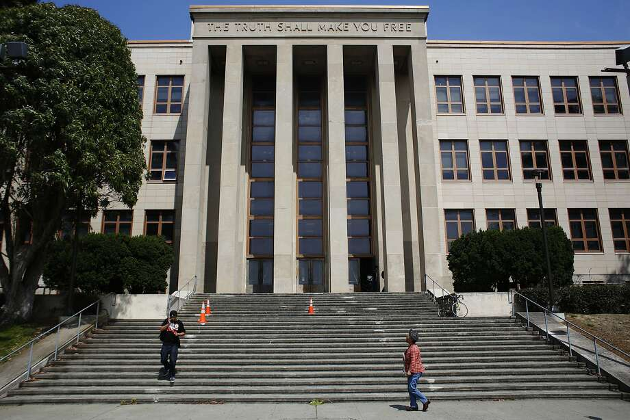 Students walk down the steps of a building at the City College of San Francisco on July 3, 2013. Photo: Ian C. Bates, The Chronicle