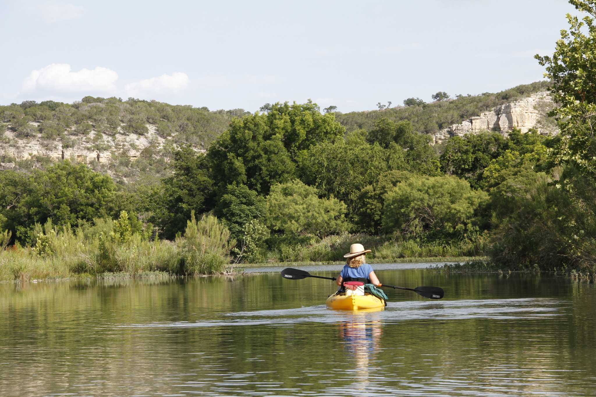 Water fishing wildlife combine to make south llano river for Fishing in houston