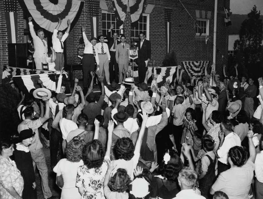 Independence Day at Trenton, N.J. in this undated photo. Photo: Keystone-France, Gamma-Keystone Via Getty Images / KEYSTONE FRANCE