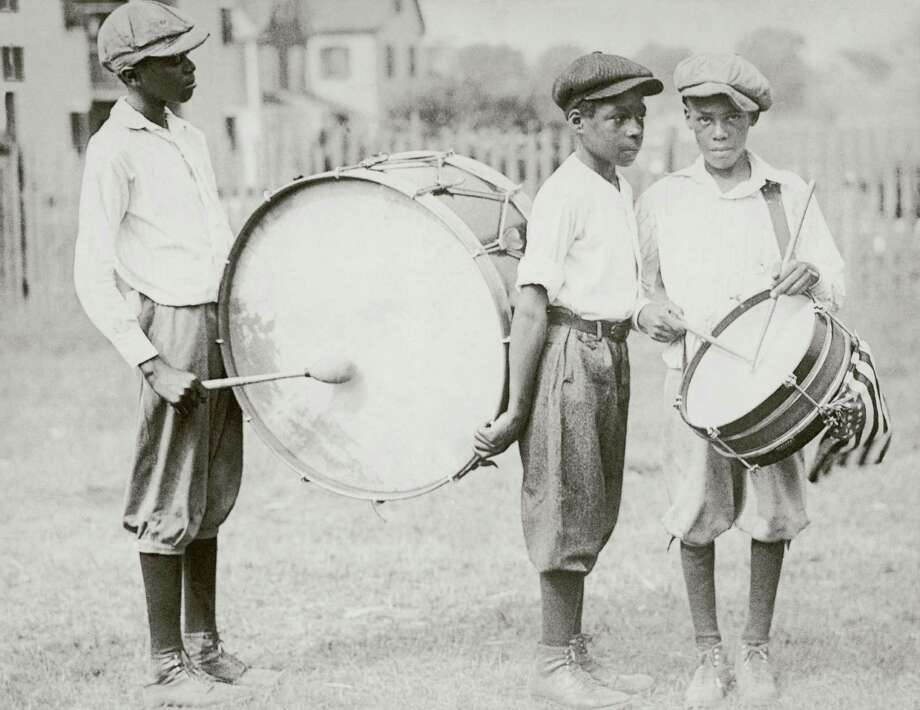 Left to right: George Goldstein, Harold Johnson and Harold Valentine prepare to march through their neighborhood playing their drums to celebrate the 4th July, circa 1935. Photo: FPG/Hulton Archive, Getty Images / 2008 Getty Images