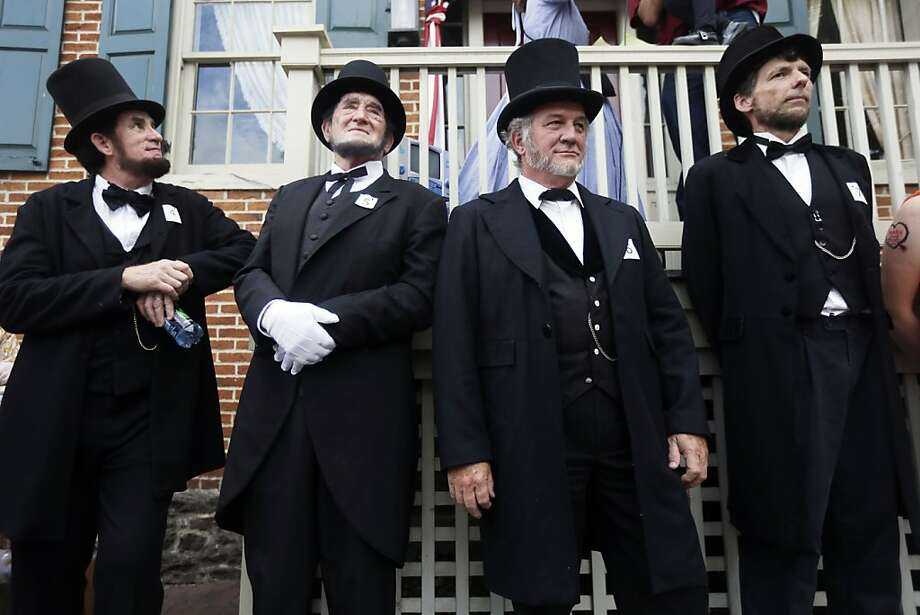 Stovepipe dreams:Holiday weekend festivities commemorating the 150th anniversary of the Battle of Gettysburg included a Daniel Day Lewis look-alike contest. Photo: Matt Rourke, Associated Press